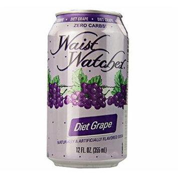 Waist Watcher Caffeine-Free Diet Grape Soda, 12 Oz. Cans (Pack of 12)
