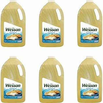 Wesson Vegetable Pure Natural Oil, 1 Gal - Pack of 6