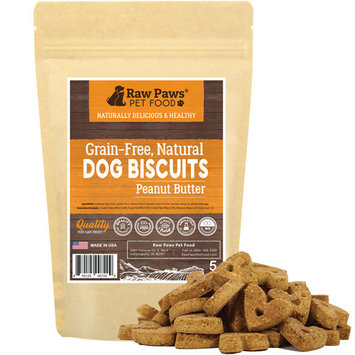 Eager Paws Grain Free Dog Biscuits, 5-ounce - Peanut Butter - Made in USA Only - Dog Treats for Small Dogs, Puppies, Large and Senior Dogs - Crunchy Natural Dog Snacks