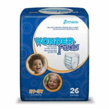 WonderPants - Toddler Training Pants WonderPants - Pull On 3T - 4T Disposable Heavy Absorbency - 92/Case