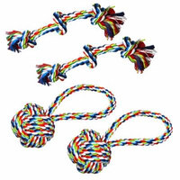 Tough Rope Dog Chew Toys Set - Great for Aggressive Chewers (4-Pack, Large)