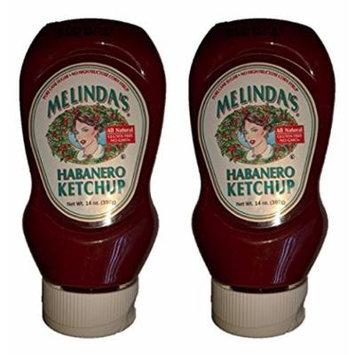 Melindas Habanero Ketchup - 14oz (Pack of 2)