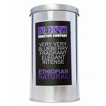 Brooklyn Roasting Company Fair Trade Certified Ethiopian Natural Coffee: 12oz Tin [WHOLE BEAN]