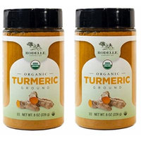 2 pack, Organic Ground Turmeric, Gluten Free by Rodelle, 8 OZ each