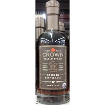 Crown Organic Bourbon Barrel Aged Maple Syrup 8.5 oz (Pack of 2)
