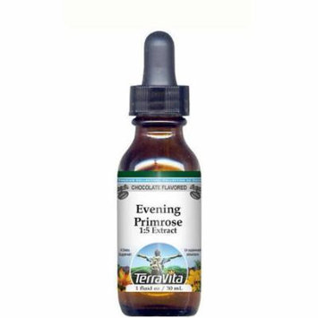 Evening Primrose Herb Glycerite Liquid Extract (1:5) - Chocolate Flavored (1 oz, ZIN: 513193) - 2-Pack