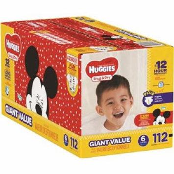 Baby Diaper Huggies Snug Dry Tab Closure Size 6 Disposable (112/CA)