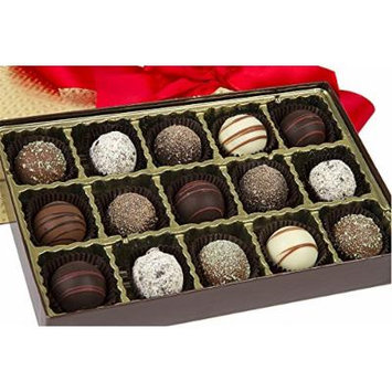 Sugar Plum Signature Tempting Truffle Box - Truffle Variety by Sugar Plum Chocolates (15 Piece)