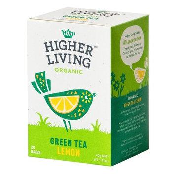 Higher Living, Organic Green LEMON Tea, 20 Count Tea Bags, Pack of 4