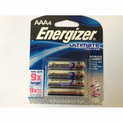 Energizer L92 AAA Lithium Batteries 1.5V - Retail Packaging - 12 Pack + 30% Off!