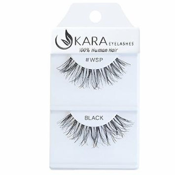 Kara Beauty 100% Human Hair False Eyelashes Wispies- WSP (12 PACK)