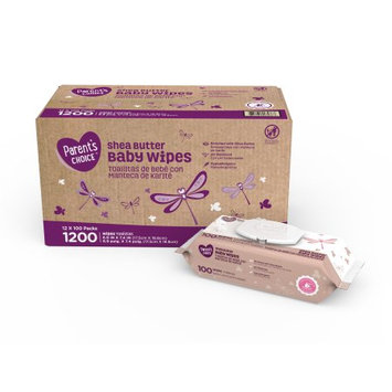 Walmart Parent's Choice Shea Butter Baby Wipes, 1200 Count