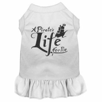 A Pirate's Life Embroidered Dog Dress White 4x (22)