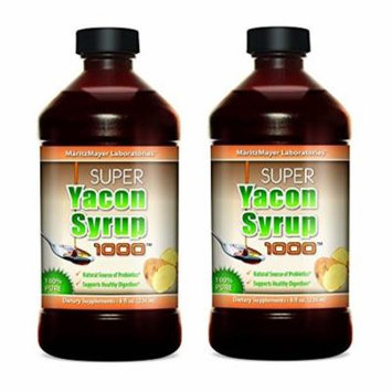 Yacon Syrup,100% Pure Raw All Natural Low Cal Natural Sweetener 2 Bottles