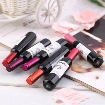 POPFEEL Fashion Makeup Tools 1 Set 6pcs Color Wine Bottle Waterproof Long Lasting Stained Lip Gloss Lipstick Hot