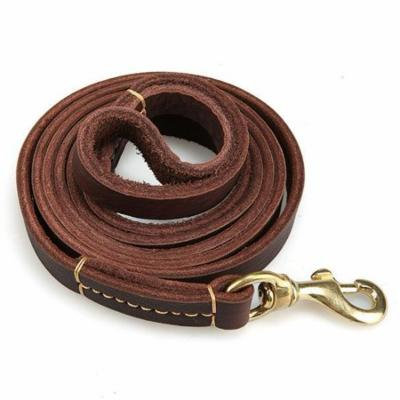 Adjustable Portable Leather Training Walking Lead Strap Dog Leash With Shovel 78inch Brown USHHE