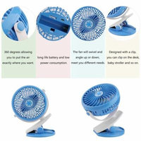 Portable Hand-held Rechargeable Battery Clip On Fan For Baby Stroller Desk Car