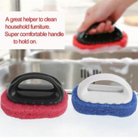 Sponge Cleaning Brush With Handle Home Bathroom Kicten Cleaning Dust Tool