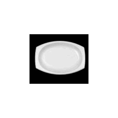 Dart 11PRWC 11 Inch White Concorde Non-Laminated Foam Platter 125-Pack (Case of 4)