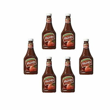 Hunt's Tomato Squeeze Bottle Ketchup 24 Oz (6 Pack)