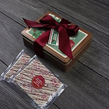 Holiday Chocolate Bark Gift Wrapped Best Premium Gourmet (White Chocolate Peppermint)
