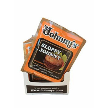 Johnny's Sloppy Johnny Seasoning Mix, use with Ground Beef, Ground Turkey, or Chicken, 12/1.5 oz Packets