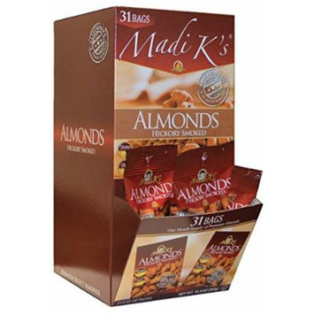 Madi K's Hickory Smoked Almonds, 31 Count