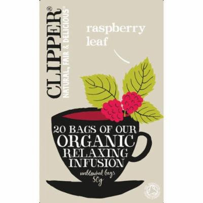 (12 PACK) - Clipper - Organic Raspberry Leaf Tea | 20 Bag | 12 PACK BUNDLE