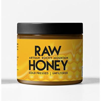 Artisan Rocky Mountain Raw Honey 20 oz, Cold Pressed & Unfiltered