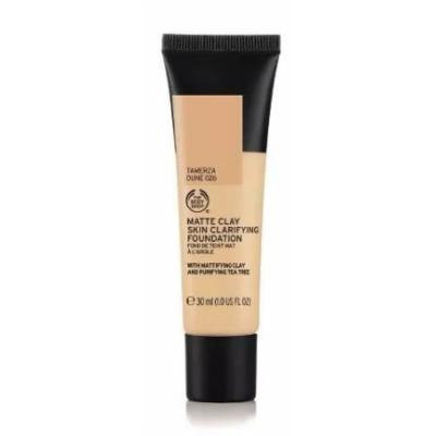 The Body Shop Matte Clay Skin Clearing Foundation, Moluccan Nutmeg Shade 055, 1 Fluid Ounce