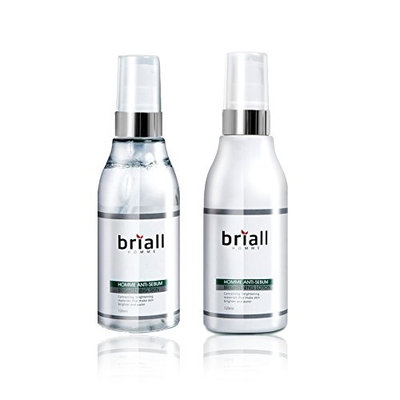 Briall Homme Men's Anti-Sebum Skin & Lotion each 4oz Set for Oily Skin