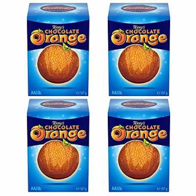 4-Pack Original Terrys Chocolate Orange Milk Chocolate Box Imported From The UK England