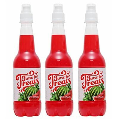 Pack of 3 Victorio Time for Treats Snow Cone Syrups 16.9oz Made in USA (Watermelon)