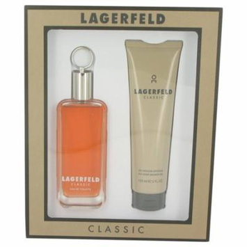 LAGERFELD by Karl Lagerfeld - Men - Gift Set -- 3.3 oz Eau De Toilette Spray + 5 oz Sh