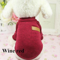 Dog Pets Warm Coats Autumn Winter Jackets For Dogs Pets Clothes(XS, Wine Red)