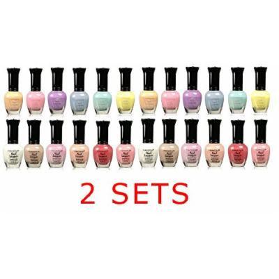 Kleancolor Collection - Assorted Pastel Nail Polish 12pc Set - 2 SETS