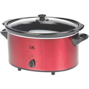 Kalorik 6 Qt Oval Slow Cooker - Red