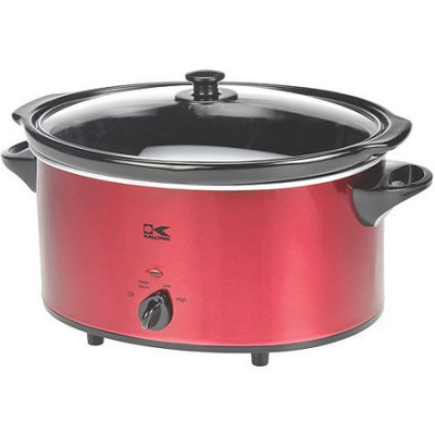 Kalorik 6 Qt Oval Slow Cooker - Red