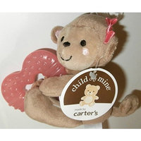 Child of Mine Soft Girl Monkey Plush with Teething Ring and Rattle