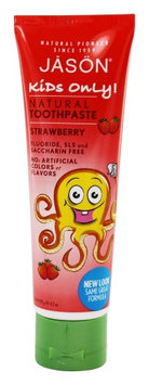 Jason Natural Products - Kids Only Toothpaste Strawberry - 4.2 oz.(pack of 4)