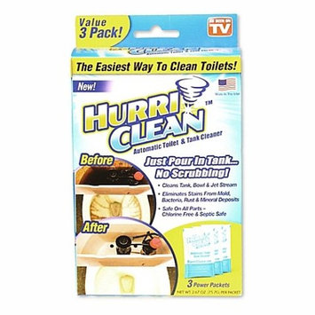 Hurriclean 3-Pack Automatic Toilet Cleaner | Eliminating Odors, Stains, and Hard Water Mineral Deposits