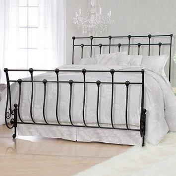 Serta Metal Queen Bed, Pebbled Black