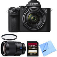 Sony Alpha 7II Mirrorless Interchangeable Lens Camera 35mm Prime Lens Bundle