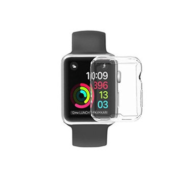 For Apple Watch Protector, HP95(TM) ltra-Slim Electroplate Soft Case Cover For Apple Watch 38MM & 42MM (Apple Watch Series 2-38MM, Clear)