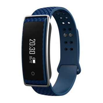 TechComm Y36+ Fitness Activity Tracker with Heart Rate Monitor, Bluetooth, Call and Text Notifications, Pedometer, Wake Up Gesture, Sleep Monitor and Remote Camera - Royal Blue