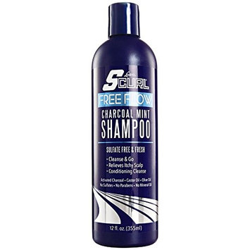 LUSTER'S S CURL FREE FLOW CHARCOAL MINT SHAMPOO 12 OZ