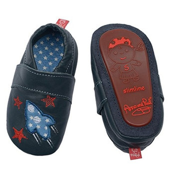 Anna & Paul First Baby Shoes Rocket - with Rubber Sole [Blue - Blau (Marine), 2 UK]
