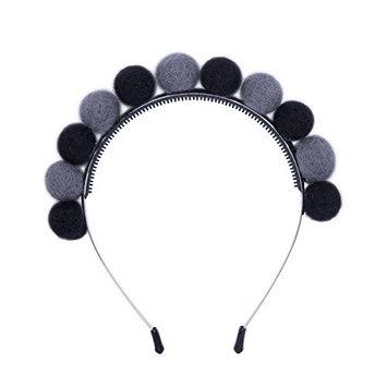 Pompoms Ball Headband Women Headwear - AWAYTR Wool Full Ball Hairband Children Girls Hair Hoop Lovely Hair Accessories