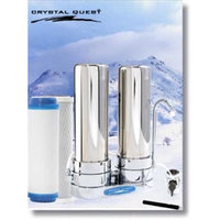 Crystal Quest CQE-CT-00115 Countertop Replaceable Double Multi Plus Water Filter System