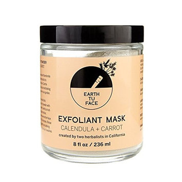 Earth tu Face - Organic Calendula + Carrot Exfoliant Powder Mask (8 fl oz/236 ml)
